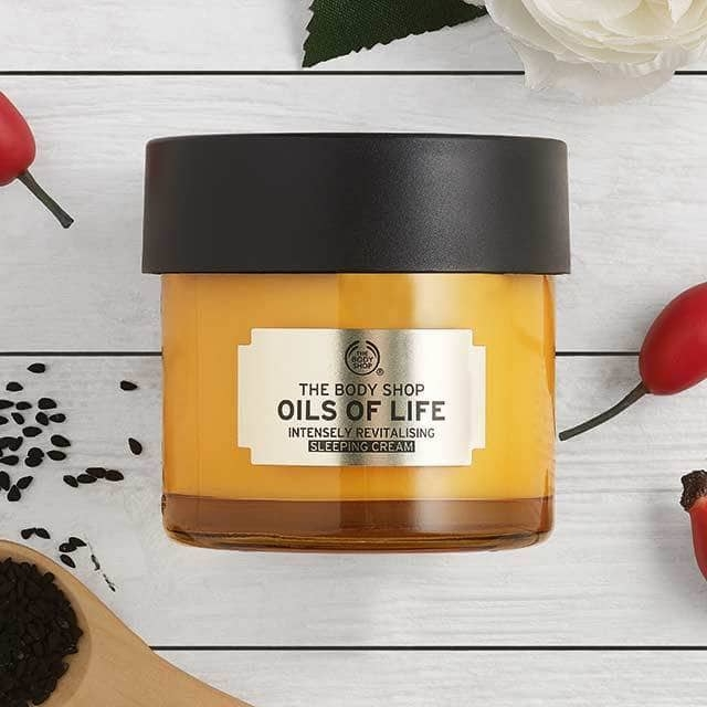 The Body Shop Oils Of Life Intensely Revitalising Sleeping Cream-7944