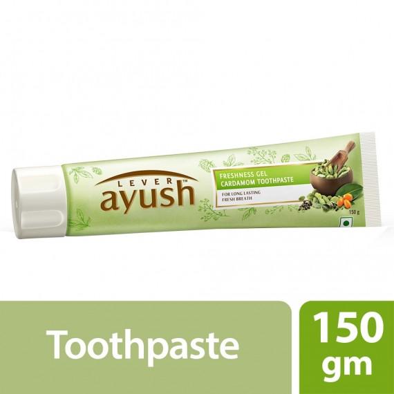 Lever Ayush Toothpaste Freshness gel Cardamom-0