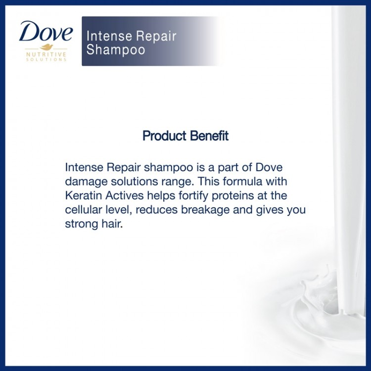 Dove Shampoo Intense Repair -8542