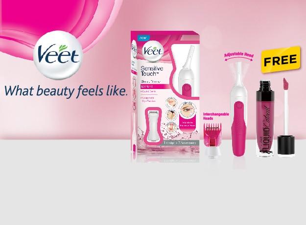 Wet n Wild Lipstick Free with Veet Trimmer