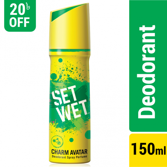 Set Wet Body Spray Deodorant Perfume Charm Avatar – 150ml