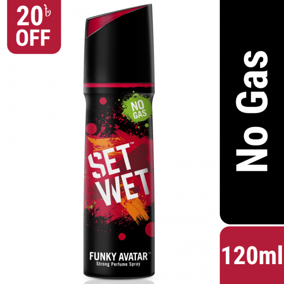 Set Wet No Gas Perfume Body Spray Deodorant Funky Avatar – 120ml