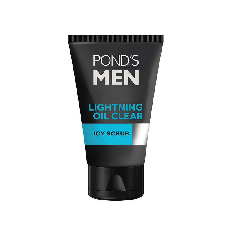 Pond's Men Lightning Oil Clear Icy Scrub