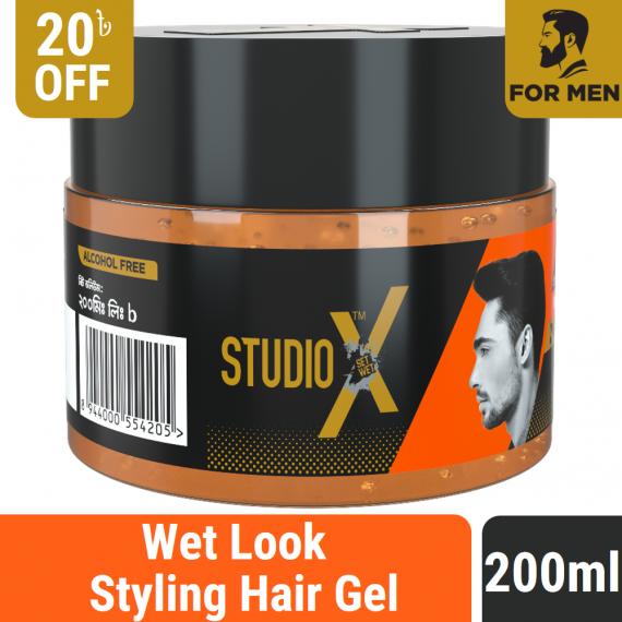 Studio X Wet Look Hair Gel 200ml