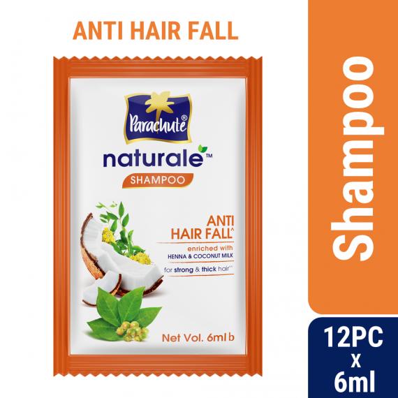 Parachute Naturale Anti Hair Fall Shampoo (6ml X 12 pcs)