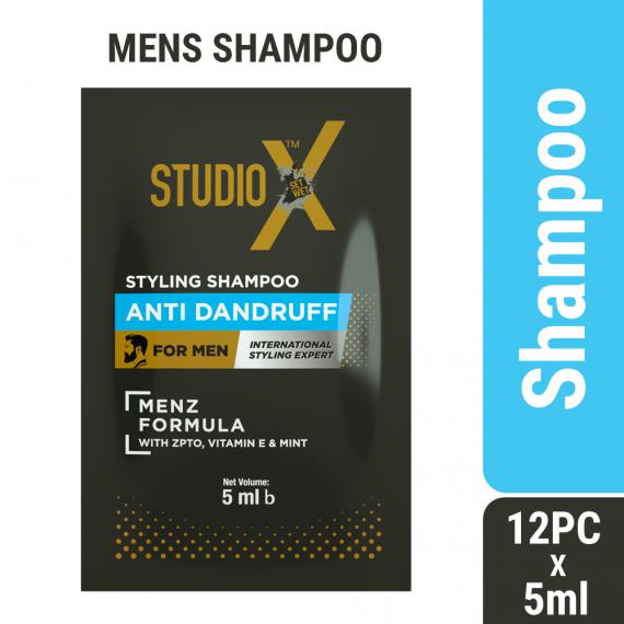 Studio X Anti Dandruff Shampoo for Men (5ml X 12 pcs)