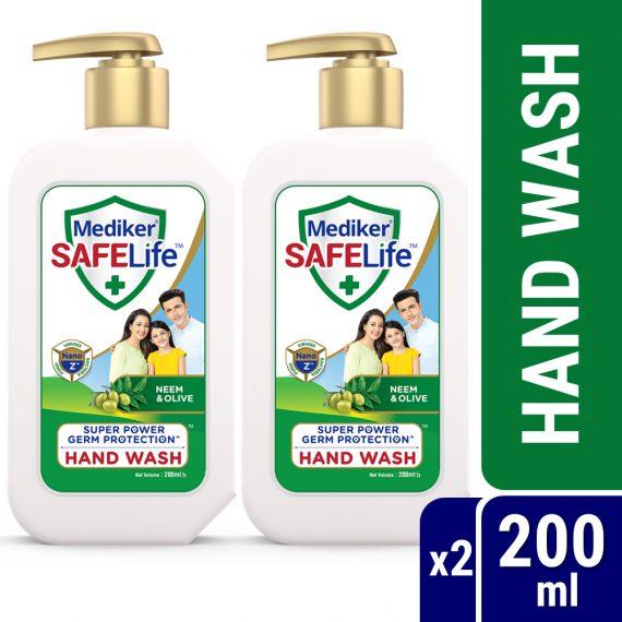 Mediker-SafeLife-Hand-Wash-Pump-Combo-Pack-(200ml-X-2pcs)-